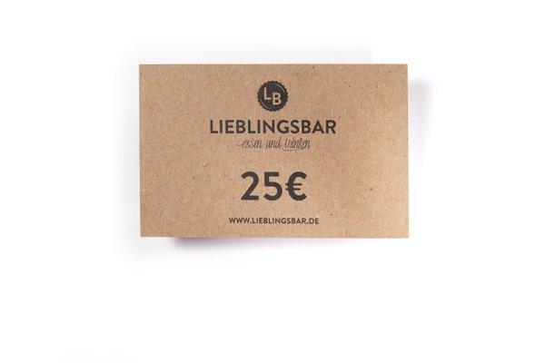 LieblingsGutschein 25 Euro