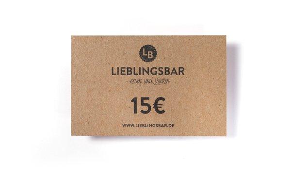 LieblingsGutschein 15 Euro
